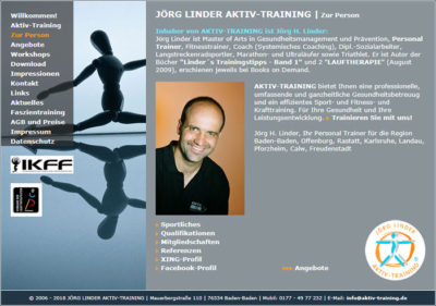 Website für Jörg Linder Aktiv Training