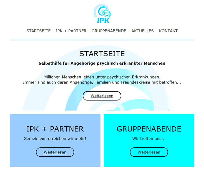 Website für IPK Rastatt / Baden-Baden