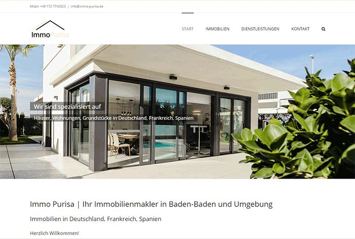 Website für Immo Purisa