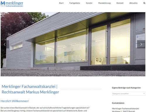 Website für Merklinger Fachanwaltskanzlei