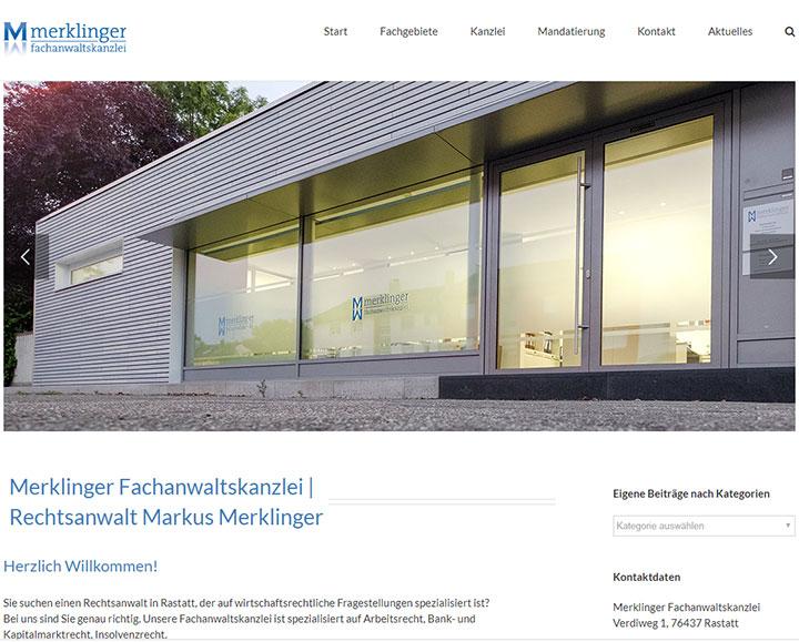 Webdesign | Website für Fachanwaltskanzlei Merklinger