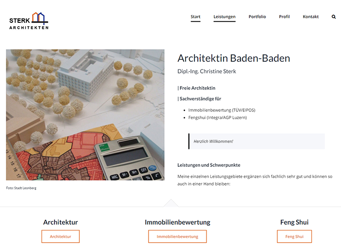 Website Architektin Baden-Baden | 2021